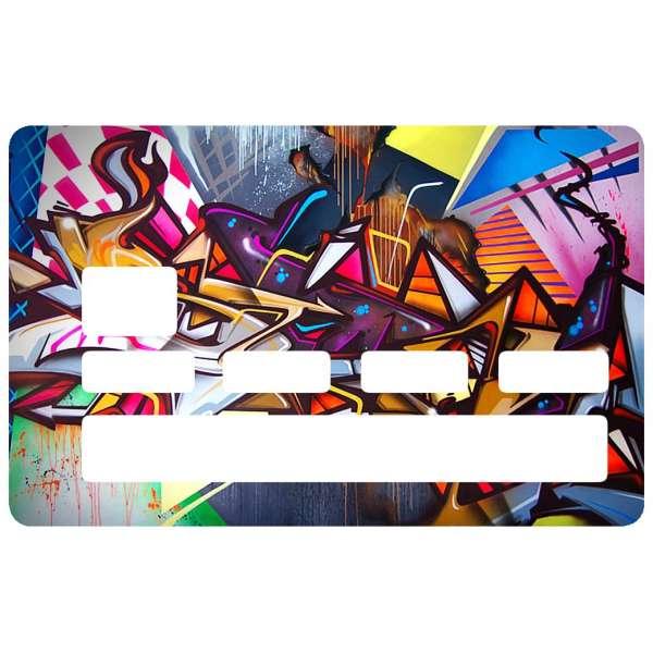 Autocollant graffiti pour carte de cr dit - Autocollant carte bleue ...