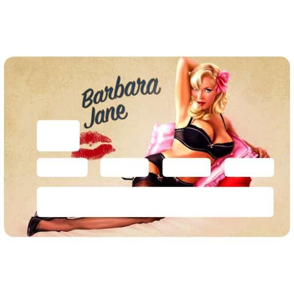 Autocollant pin up barbara pour carte de cr dit - Autocollant carte bleue ...