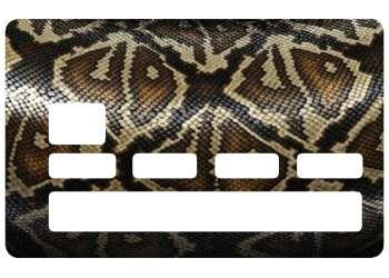 Autocollant Peau Serpent pour carte bancaire