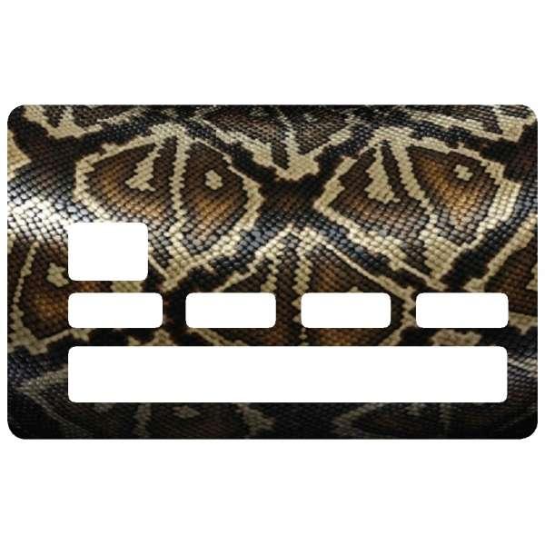 Autocollant peau serpent pour cb - Autocollant carte bleue ...