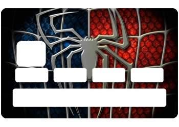 Autocollant Spiderman pour carte de crédit