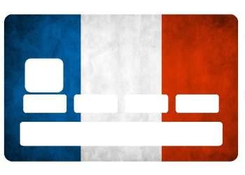 Autocollant Drapeau Français pour carte bancaire