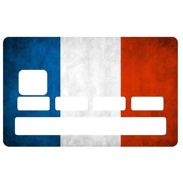 Autocollant carte bancaire drapeau fran ais pour cb for Autocollant mural francais