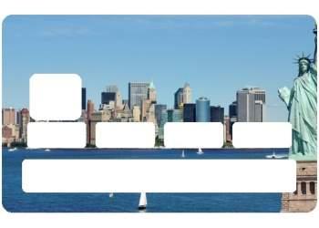 Autocollant New York pour carte bancaire