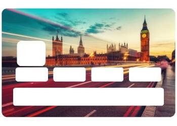 Autocollant Londres pour carte de paiement