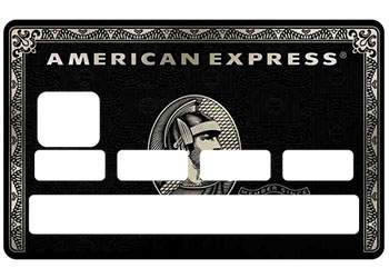 "Stickers ""American Black"" carte bancaire"