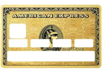 "Stickers ""American Gold"" carte bancaire"