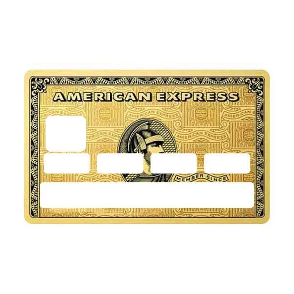 Stickers pour cb american gold - Autocollant carte bleue ...