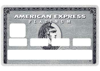 """Stickers """"American Platinium"""" carte bancaire"""