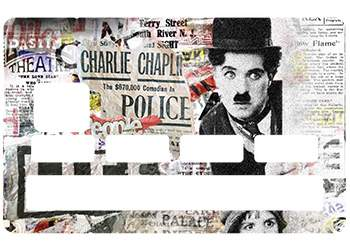Sticker Chaplin carte bleue