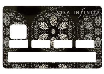 "Stickers ""Infinite Black"" carte bancaire"