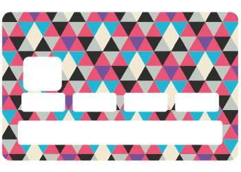 """Autocollant """"Triangle"""" pour carte bancaire"""