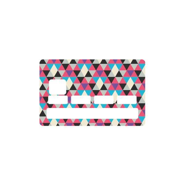 Stickers carte bancaire triangle - Autocollant carte bleue ...