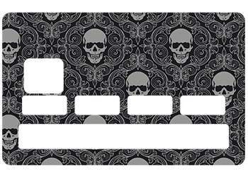 Stickers Skull Black pour CB