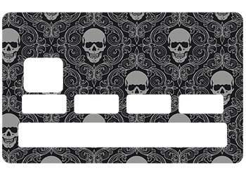 Stickers Skull Black pour CB