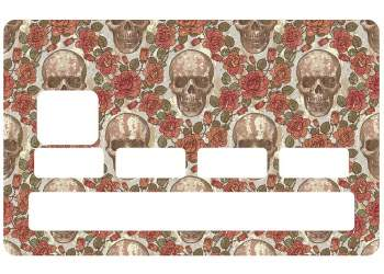 Stickers Skull Rose pour CB