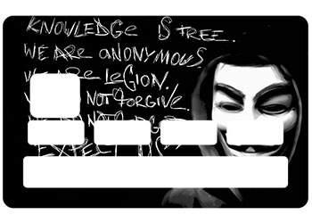 """Autocollant """"Anonymous Legion"""" pour CB"""
