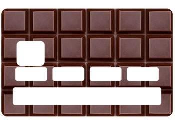 Stickers Chocolat carte crédit