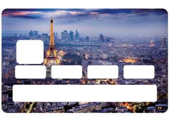 Sticker Paris carte bleue