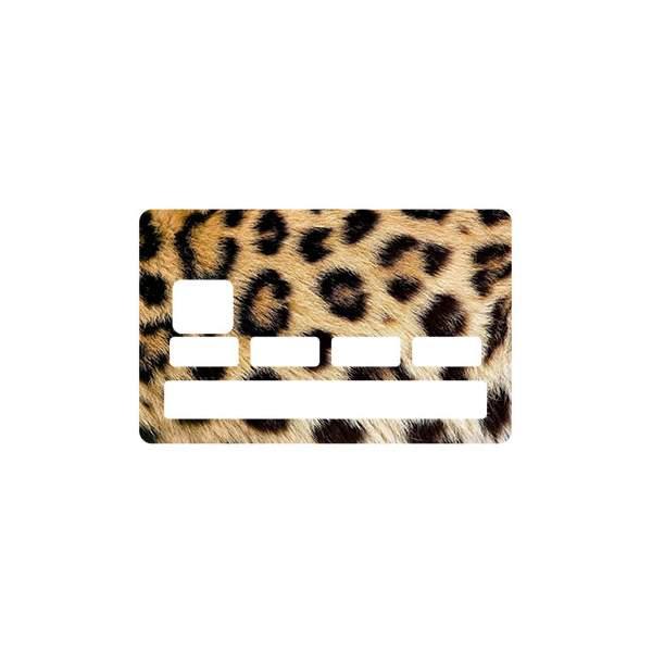 Sticker fourrure l opard pour carte bleue - Autocollant carte bleue ...