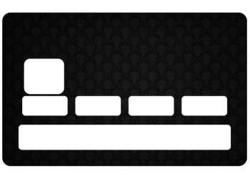 Sticker CB Black pour carte bancaire