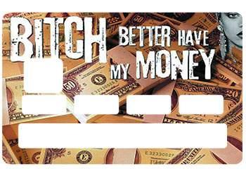 Sticker CB Rihanna pour carte bancaire