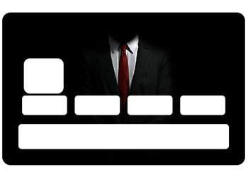 Sticker CB Suit & Tie pour carte bancaire