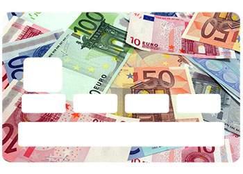 """Autocollant """"Billets Euros"""" pour CB"""