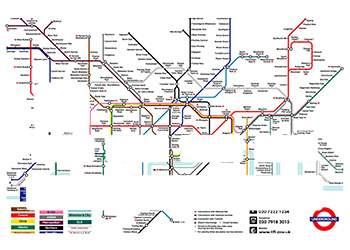 """Stickers carte bancaire """"Plan Métro Londres"""""""