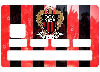 Sticker CB OGC Nice pour carte bancaire