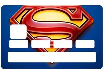 """Stickers CB """"Superman"""" pour carte bancaire"""