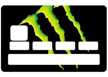 """Stickers CB """"Monstre"""" pour carte bancaire"""