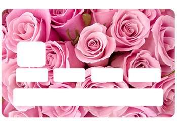 Stickers CB Rose pour carte bancaire