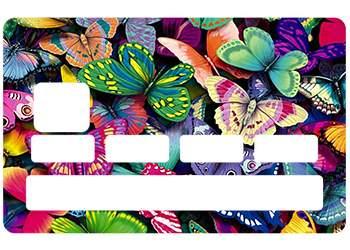 Stickers CB Papillon pour carte bancaire