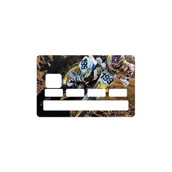 Stickers cb motocross pour carte bleue - Autocollant carte bleue ...