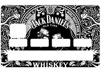Sticker Jack Daniels pour carte bancaire