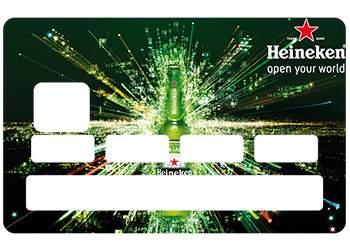 Autocollant Heineken pour carte bancaire
