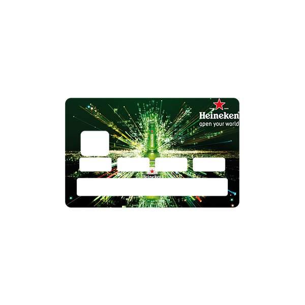 Autocollant heineken pour carte bancaire - Autocollant carte bleue ...