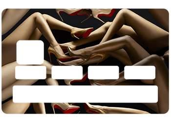 Stickers CB Louboutin pour carte bancaire