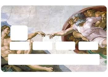 """Autocollant """"La Création d'Adam"""" pour carte bancaire"""