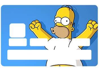 Stickers Homer pour carte bancaire