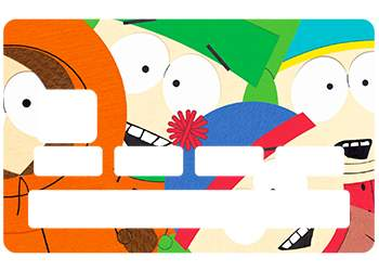 Sticker South Park pour carte bancaire