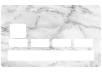 Stickers Marbre blanc pour carte bancaire