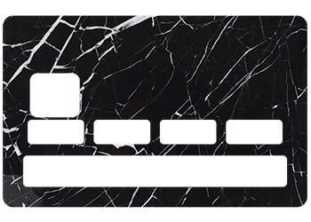 Sticker CB Marbre noir pour carte bancaire