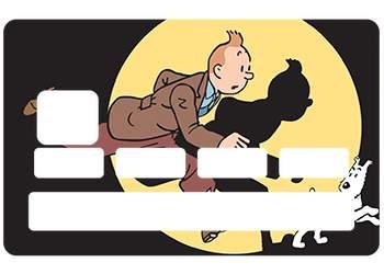 Sticker Tintin pour carte bancaire