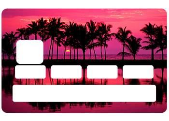 Autocollant CB Sunrise pour carte bancaire