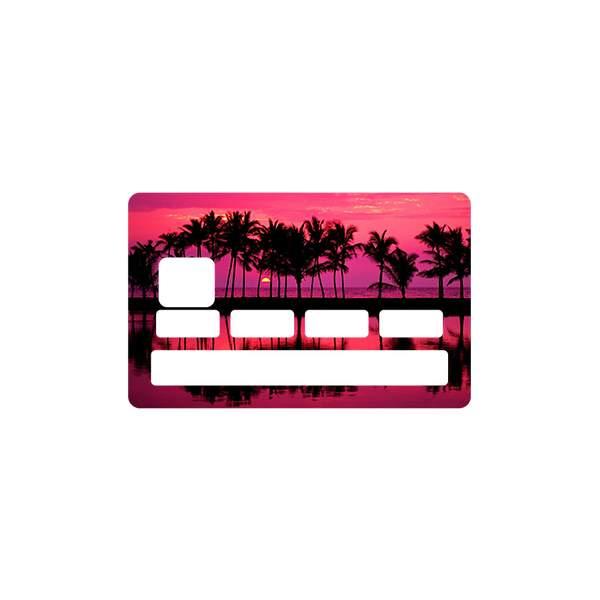 Autocollant sunrise pour carte bancaire - Autocollant carte bleue ...