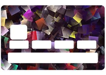 Sticker CB Cube pour carte bancaire