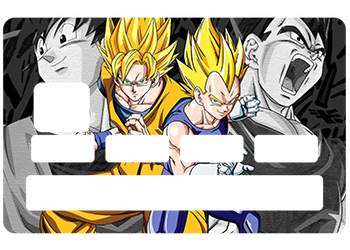 Autocollant CB Dragon Ball pour carte bleue