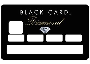 Sticker CB Black Card pour carte bancaire